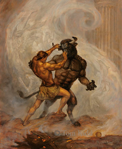 thesis and minotaur Perfect for whole-class teaching, this theseus and the minotaur story powerpoint features a summary of the story and the key themes to help support your teaching on.